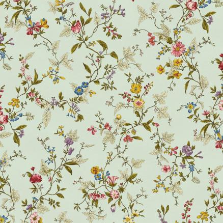 Image of   Spring Meadow Bomuldslærred Stof 110cm 490 Blomster - 50cm