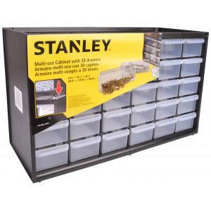 Stanley Sortimentskasse/Skuffesystem 30 skuffer Sort 36,5x15,5x22,5cm