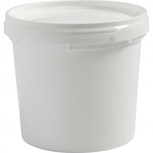 Plastspand med låg, H: 9,5 cm, diam. 9,2 cm, 385 ml, 20stk.