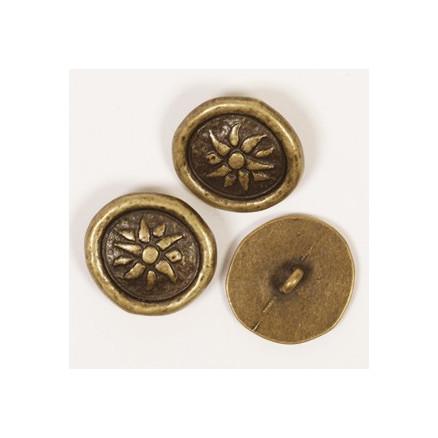 Image of   Drops Inka knap u/hul 20mm 532 - 1 stk