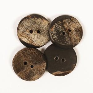 Kantet Bøffelknap 20mm 537 - 1 stk