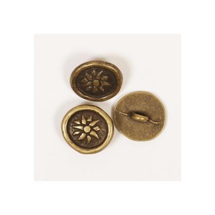 Image of   Drops Inka knap u/hul 15mm 531 - 1 stk