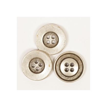 Image of   Drops Sølv Antik knap 20mm 533 - 1 stk