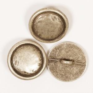 Sølv Metal knap 20mm 529 - 1 stk