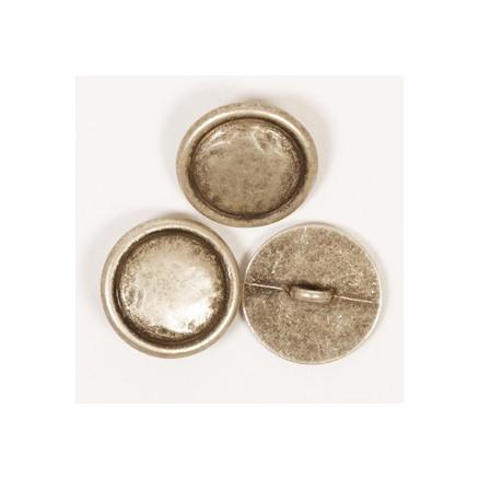Image of   Drops Sølv Metal knap 20mm 529 - 1 stk