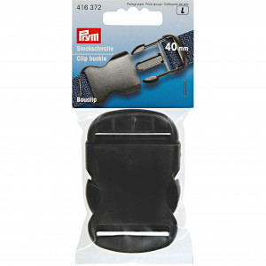 Prym Klikspænde/Stikspænde Plastik Sort 40mm - 1 stk