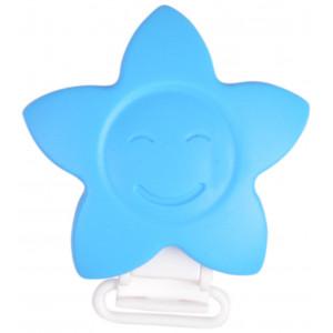 Infinity Hearts Seleclips Silikone Stjerne Blå 5x5cm - 1 stk