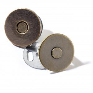 Prym Magnetlås Metal Antik Messing Ø19mm - 1 stk