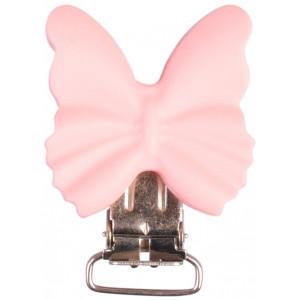 Infinity Hearts Seleclips Silikone Sommerfugl Lyserød 3,5x3,8cm - 1 st