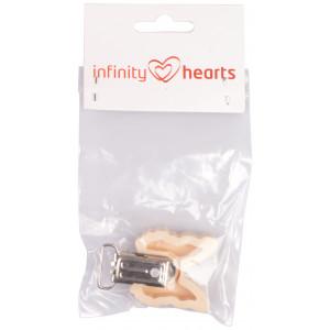 Infinity Hearts Seleclips Silikone Sommerfugl Beige 3,5x3,8cm - 1 stk