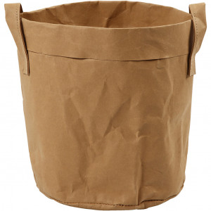 Opbevaringspose, diam. 19,5 cm, H: 20 , lys brun, 1stk.