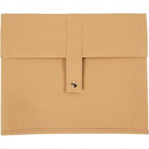 Taske, L: 26,5 cm, H: 22 , lys brun, 1stk.