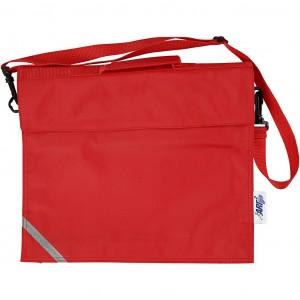 Skoletaske, str. 36x31 cm, dybde 6 cm, rød, 1stk.