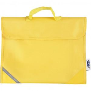 Skoletaske, str. 36x29 cm, dybde 9 cm, gul, 1stk.