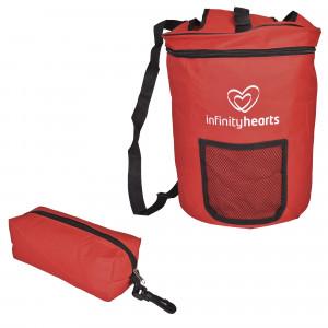 Infinity Hearts Garntaske Rød