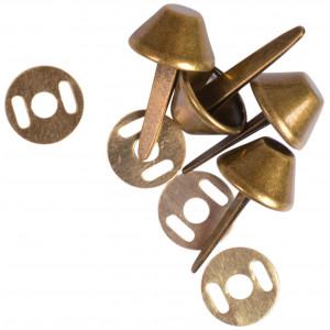 Prym Taskefødder Metal Antik Messing Ø15mm - 4 stk