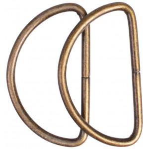 Prym D-ring Stål Antik Sølv 40mm - 2 stk