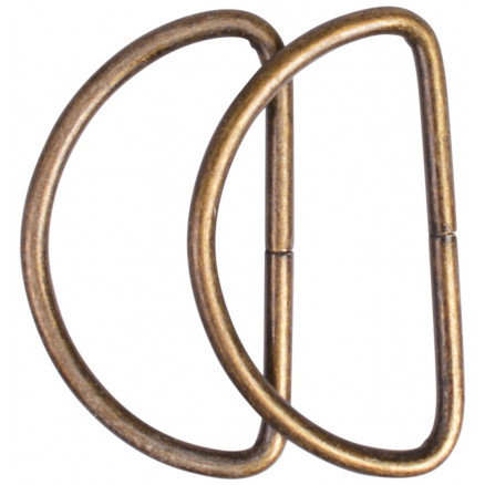 Image of   Prym D-ring Stål Antik Sølv 40mm - 2 stk