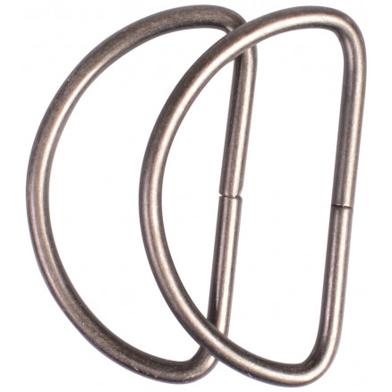 Image of   Prym D-ring Stål Antik Messing 40mm - 2 stk