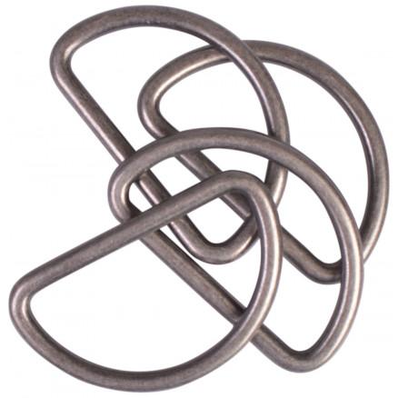 Image of   Prym D-ring Zink Antik Messing 30mm - 4 stk