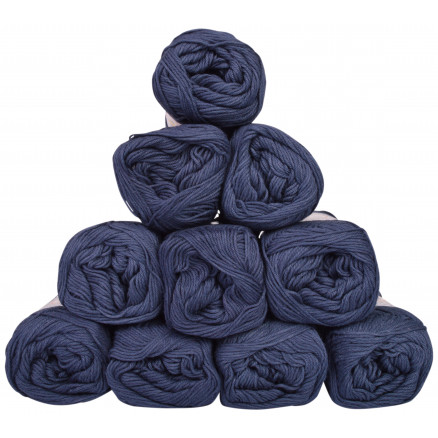 Image of   Mayflower Cotton 8/4 Junior Garnpakke Unicolor 1423 Marineblå - 10 stk