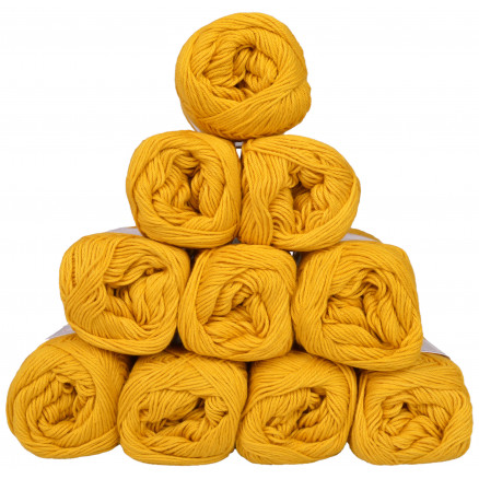 Image of   Mayflower Cotton 8/4 Junior Garnpakke Unicolor 1435 Sennepsgul - 10 st
