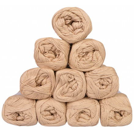 Image of   Mayflower Cotton 8/4 Junior Garnpakke Unicolor 1438 Beige - 10 stk