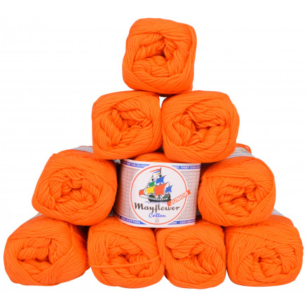 Image of   Mayflower Cotton 8/4 Junior Garnpakke Unicolor 1406 Orange - 10 stk