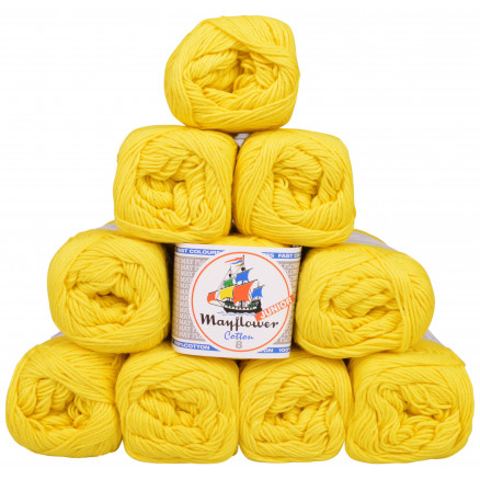 Image of   Mayflower Cotton 8/4 Junior Garnpakke Unicolor 1405 Gul - 10 stk