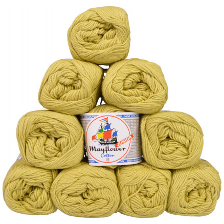 Image of   Mayflower Cotton 8/4 Junior Garnpakke Unicolor 1426 Lime - 10 stk