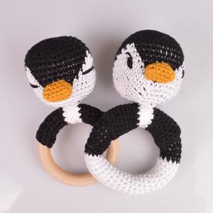 Pingvin Rangler af Rito Krea - Rangle Hækleopskrift 13cm