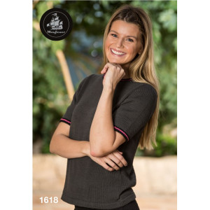 Mayflower Bluse med smalle striber - Bluse Strikkeopskrift str. S - XXXL