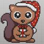 Erling Egern Julemønster af Rito Krea - Perlemønster Jul 27x27cm
