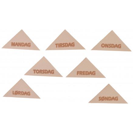 Image of   Label Ugedage Mandag-Søndag 5,5x2,8 cm - 7 stk