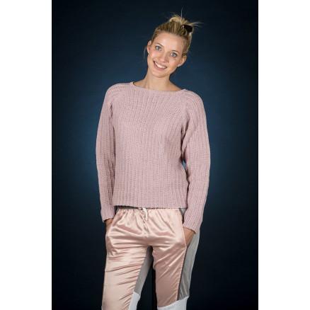 Mayflower Rosa Raglan Bluse - Bluse Strikkeopskrift str. S - XXXL