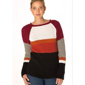 Mayflower Ribstrikket Sweater i seks farver - Sweater Strikkeopskrift str. S - XXXL
