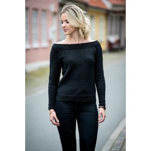 Mayflower Bluse med stor halsudskæring - Bluse Strikkeopskrift str. S - XXL