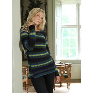 Mayflower Sweater med hulmønster og lynlåse - Sweater Strikkeopskrift str. S - XXXL