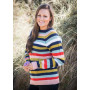 Mayflower Oversize Sweater med Striber - Sweater Strikkeopskrift str. S/M - XXL/XXXL