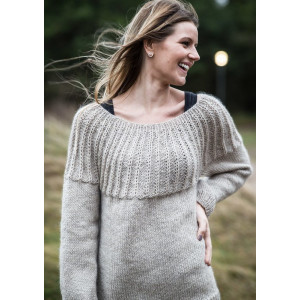Mayflower Sweater with Rundt Bærestykke - Sweater Strikkeopskrift str. S - XXXL