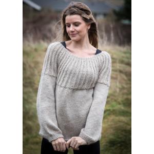 Mayflower Damesweater med Rundt Bærestykke - Bluse Strikkeopskrift str. S - XXXL