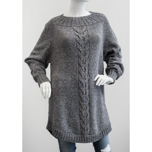 Mayflower Poncho Sweater med Snoning - Sweater Strikkeopskrift str. S - XXXL