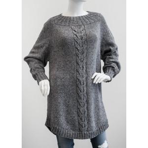 Mayflower Poncho Sweater med Snoning - Sweater Strikkeopskrift str. S - XXXL