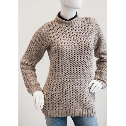 Mayflower Sweater med strikkede kanter - Sweater Hækleopskrift str. S