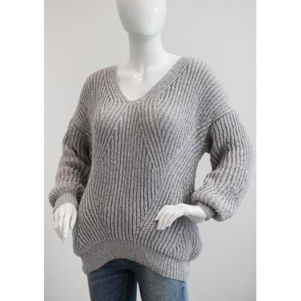 Mayflower Patentstrikket Sweater - Sweater Strikkeopskrift str. S - XX