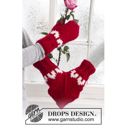 Image of   Love Glove by DROPS Design - Muffedisse Strikkeopskrift str. S - M/L
