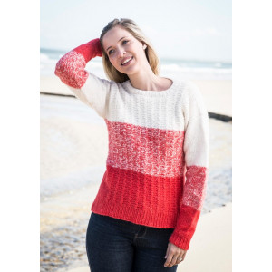 Mayflower Blokstribet Sweater - Sweater Strikkeopskrift str. S - XXXL