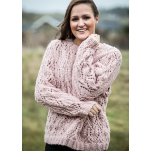 Mayflower Sweater med hulmønster - Sweater Strikkeopskrift str. S - XXXL
