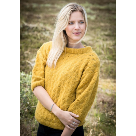 Mayflower Sweater i hulmønster - Sweater Strikkeopskrift str. S - XXXL thumbnail