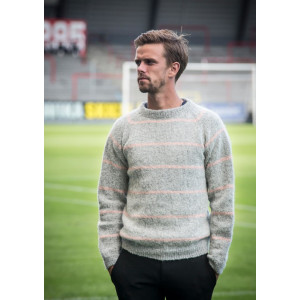 Mayflower Herresweater med Raglan og Striber - Sweater Strikkeopskrift str. S - XXXL